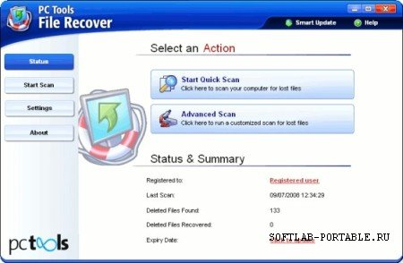 PcTools File Recover 7.0.0.38 Portable