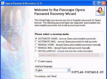 Opera Password Recovery v3.7.3.272 Rus