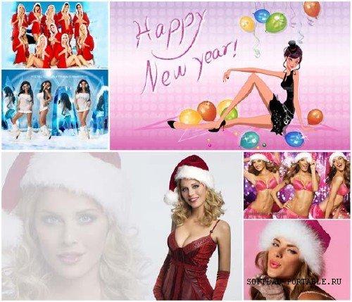Christmas Sexy Girls Wallpapers - Widescreen & HD