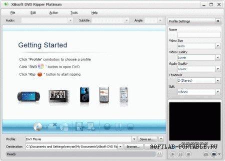Xilisoft DVD Ripper Platinum 7.3.1.20120625 Portable