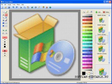 PC Icon Editor 3.4 Portable