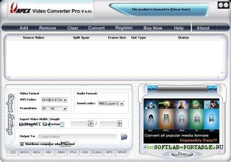 Apex Video Converter Super 8.18 Portable