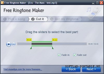 Musetips Free MP3 Ringtone Maker 2.5.0.2486 Portable
