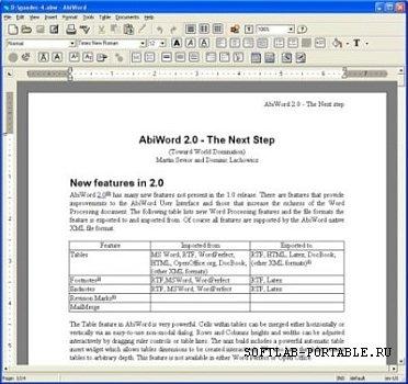 AbiWord 2.9.4 Dev Portable