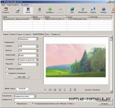 XMedia Recode 3.5.3.7 Portable